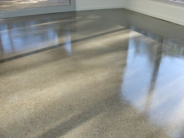 Applying Paint To Concrete Floor
